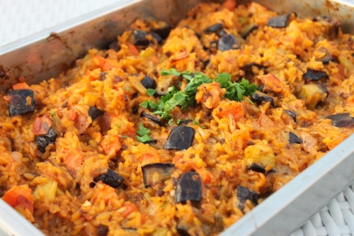 Baked Orzo with Eggplant and Mozzarella | everylittlecrumb