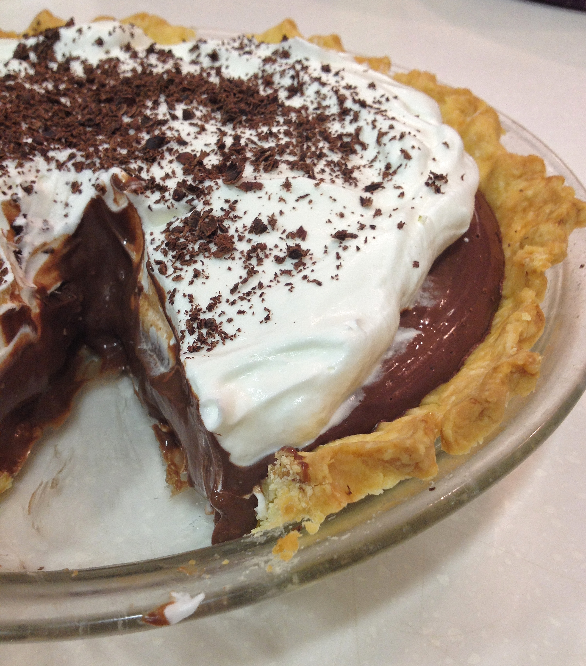 Chocolate Pudding Pie | everylittlecrumb